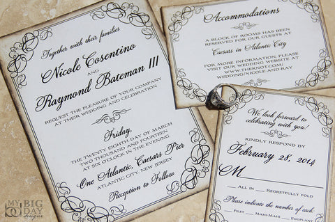 The Framed Flourish Invitation Set