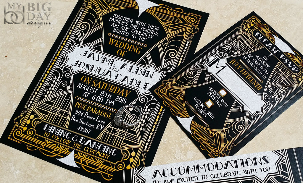 The Glittering Gatsby Invitation Set