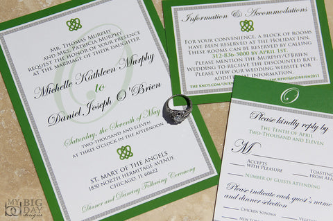 The Classic Celtic Invitation Set