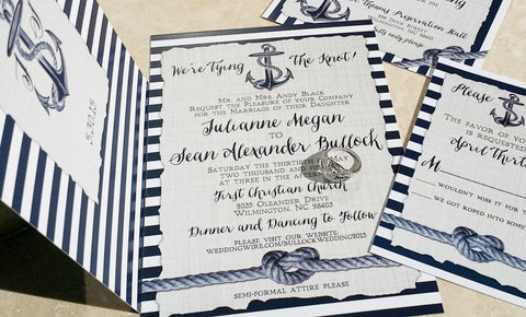 A Nautical Night Invitation Set
