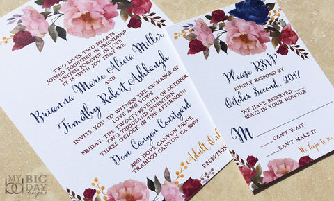 Floral Bouquet Invitation Set