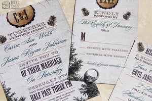 The Log Cabin Invitation Set