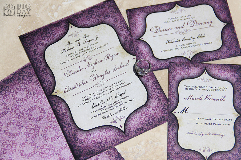 Goth Patterned Invitation Set