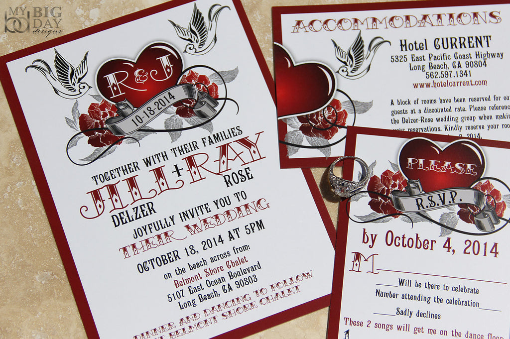 The Rockabilly Invitation Set