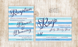 The Striped Watercolor Invitation Set