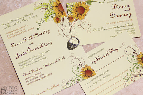 The Sweet Sunflowers Invitation Set