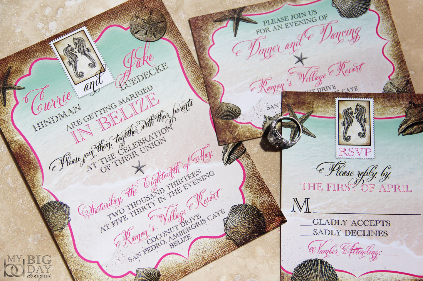 Tropical Destination Invitation Set
