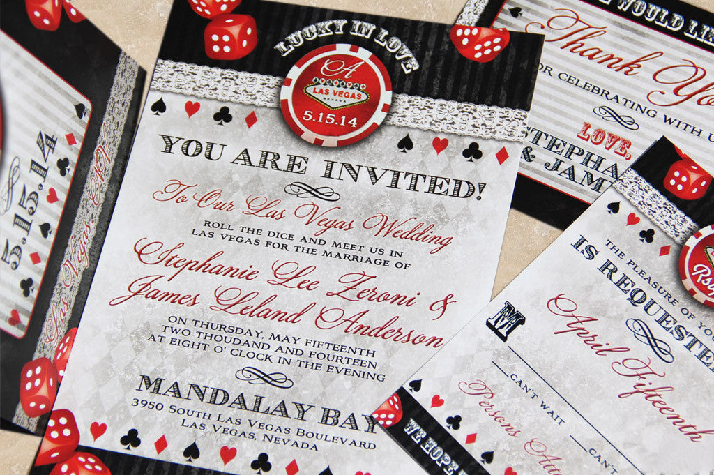 Lucky In Love Las Vegas Invitation Set