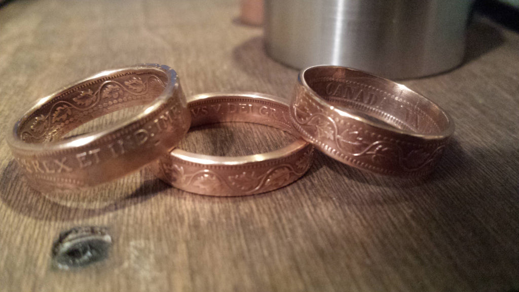 Bronze\Copper Coin Rings