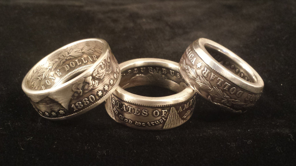 Morgan Silver Dollar Coin Rings