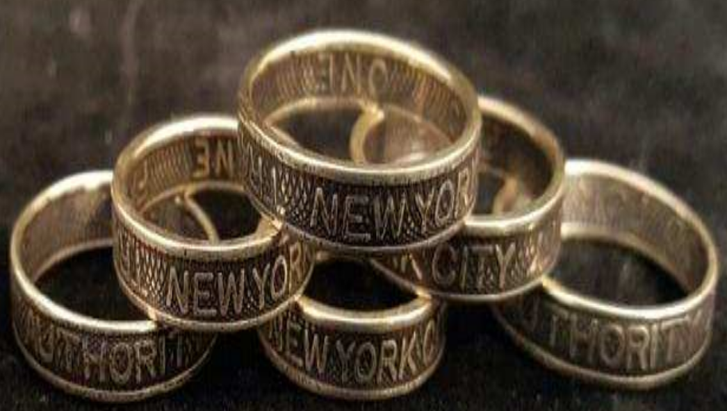 NYC Subway Token Rings