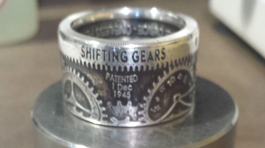 1 oz. Shifting Gears .999 Fine Silver Rings