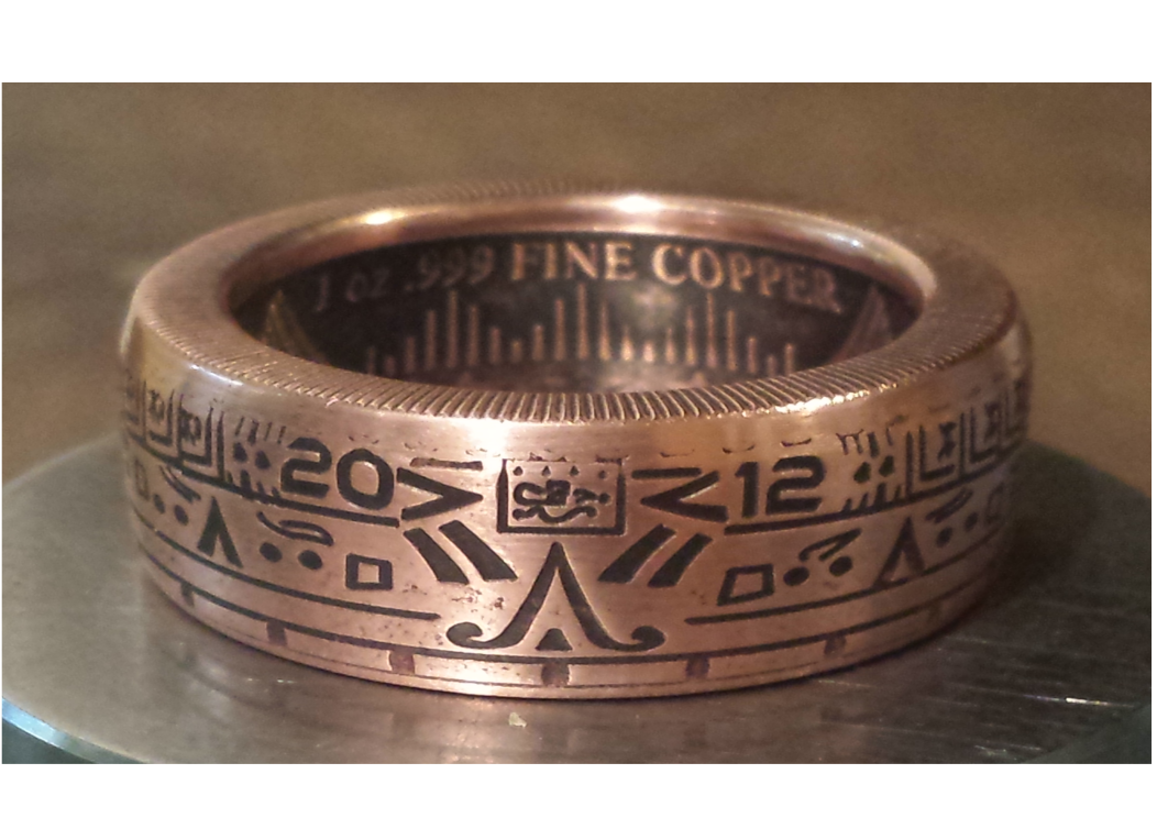 1 oz. Aztec Calendar Copper Rings