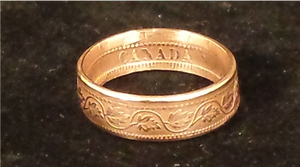 Canadian Large Cent Bronze Coin Rings