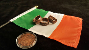 Ireland 1 Penny Bronze Coin Rings