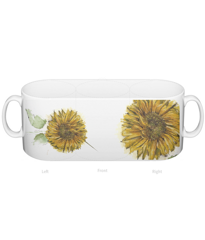 Sunflower ceramic mug