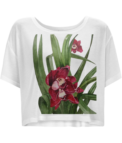 Water colour orchid Boxy T-Shirt