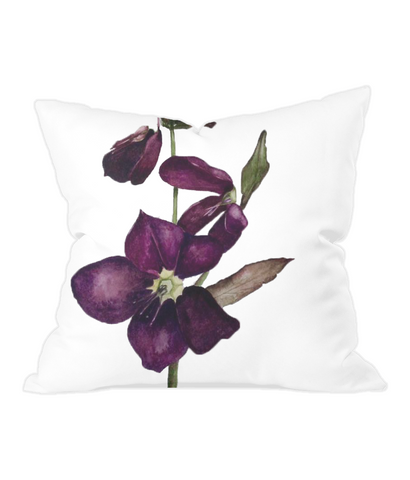 Purple Helibore Throw Cushion