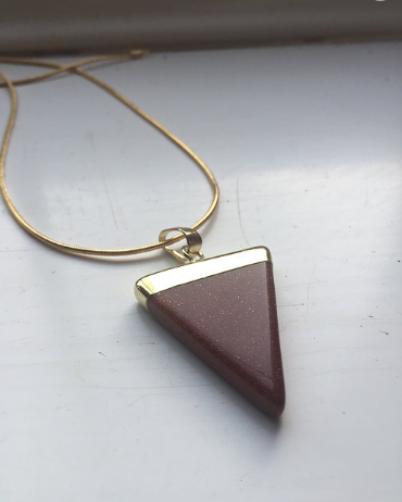 Red Goldstone Necklace