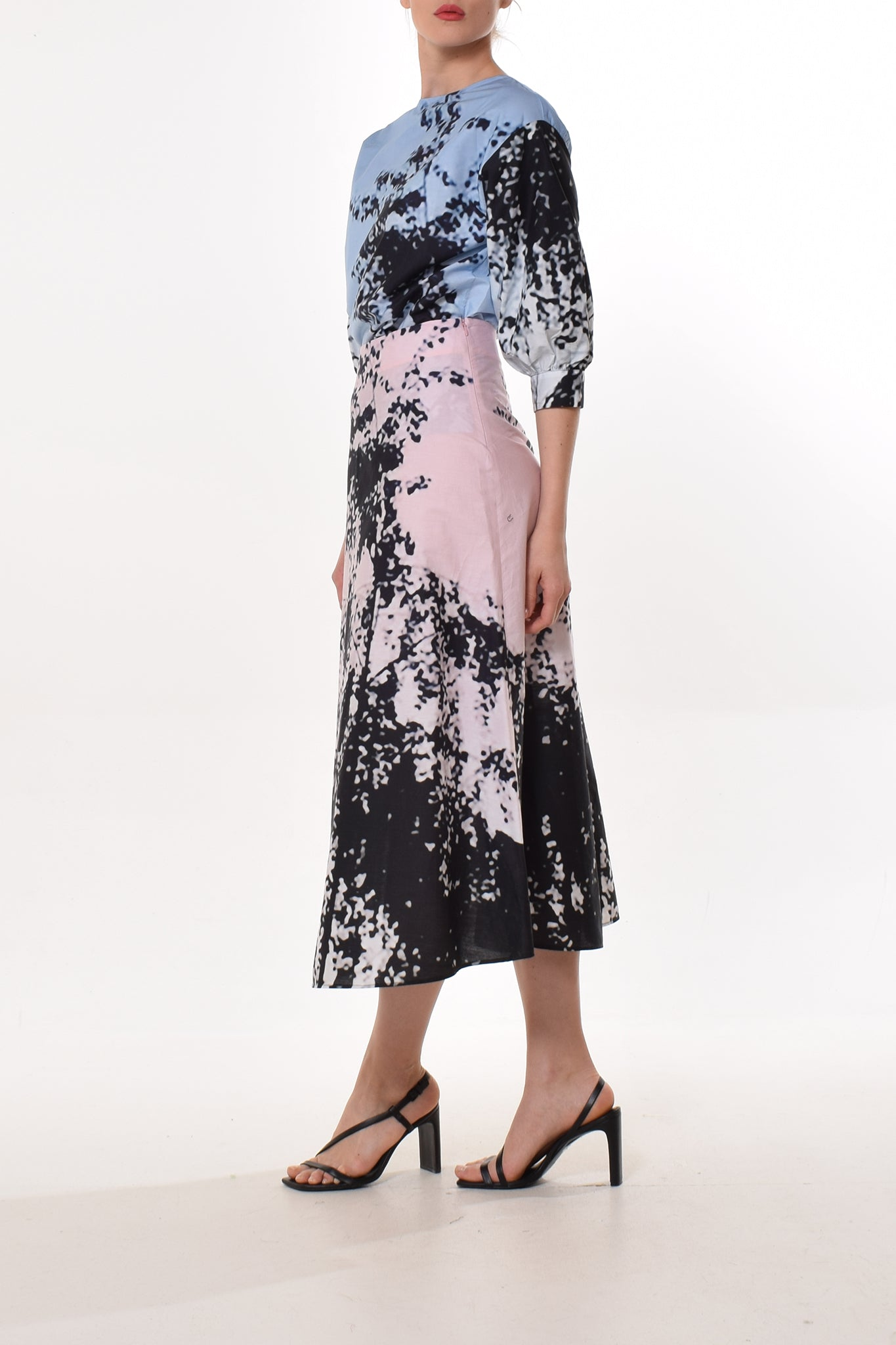 Day dress in Bluescarf Print