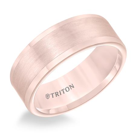 Rose Tone Satin Finish Wedding Band