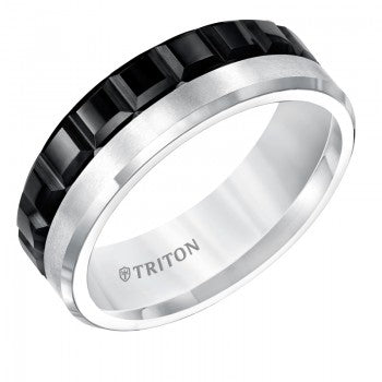 Black And White Seven Millimeter Triton Band