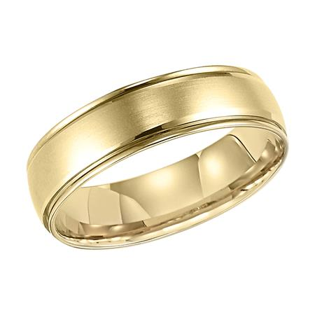 Satin Polished Wedding Band With Step Edge
