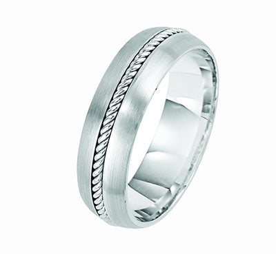 Twisted Rope Brushed Finish Wedding Band