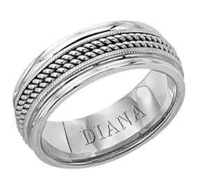 Double Rope And Polished Edge Wedding Band