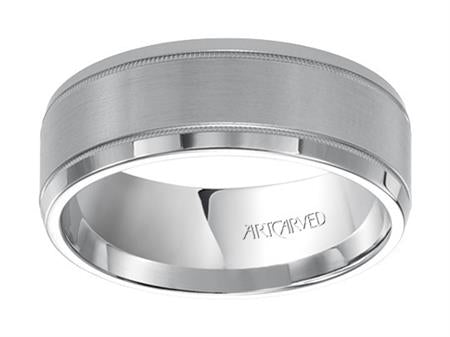 Brushed & High Polished Band With Milgrain