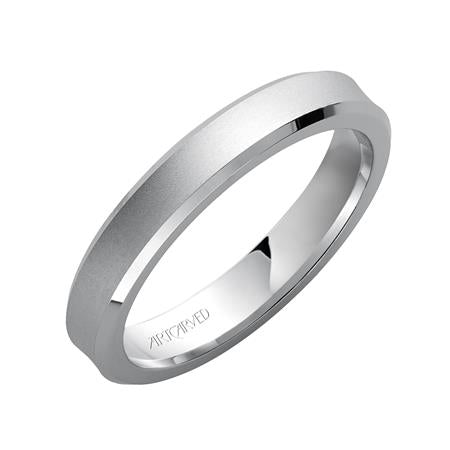 Satin Finish Concave Wedding Band