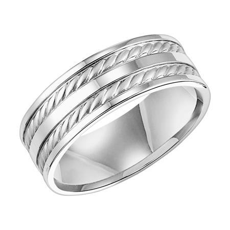 Double Twisted Rope Wedding Band