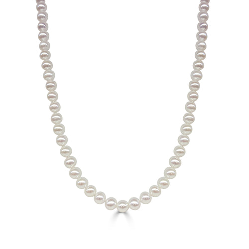 Freshwater Pearl Necklace With 14 Karat Yellow Gold Clasp