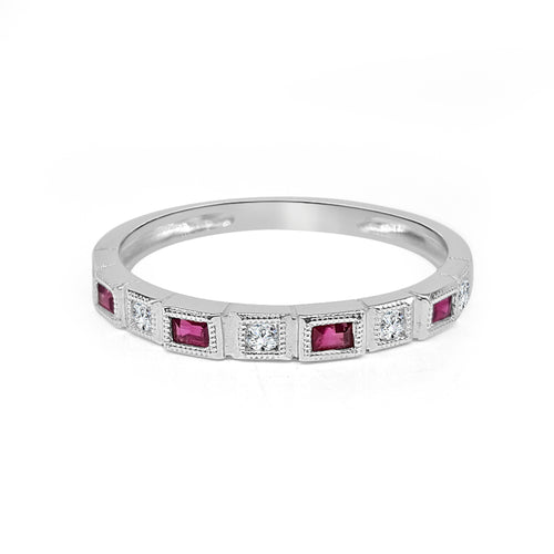Ruby And Round Diamond Fancy Band