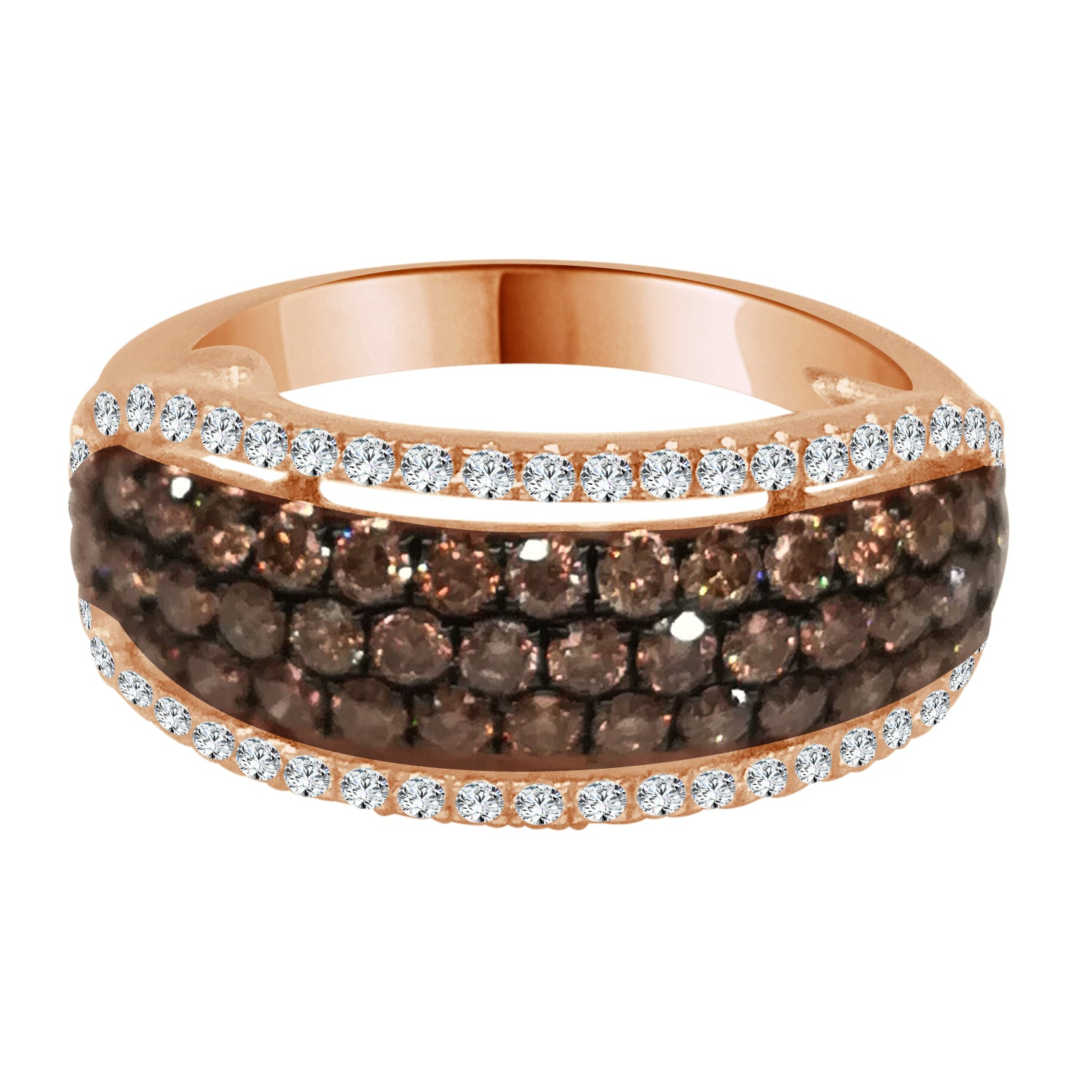 14 Karat Rose Gold 0.24 Carat Diamond Ring