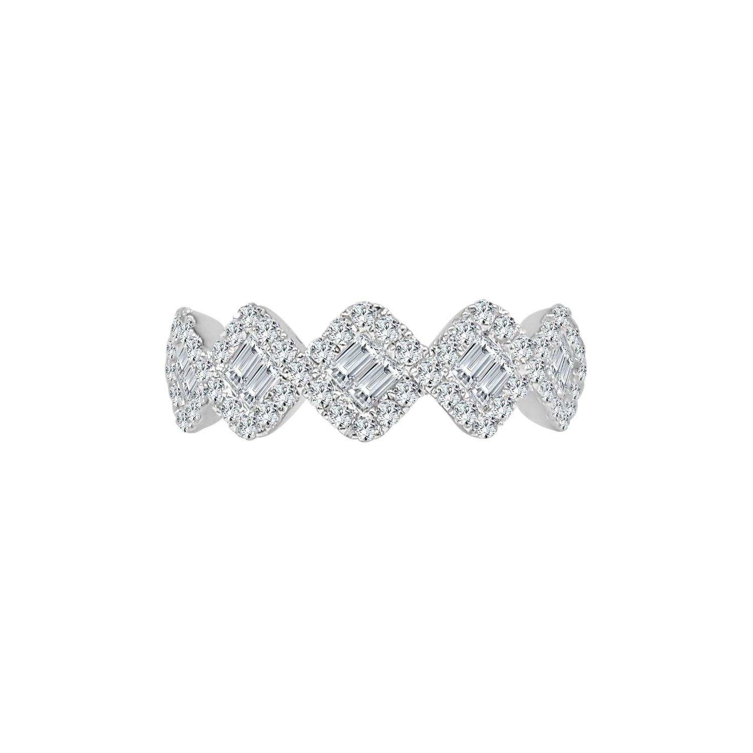 Fancy Round And Baguette Diamond Ring