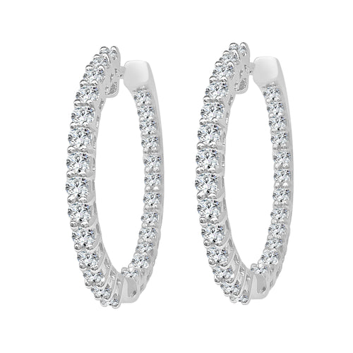 Inside Out 0.88 Carat Diamond Hoops