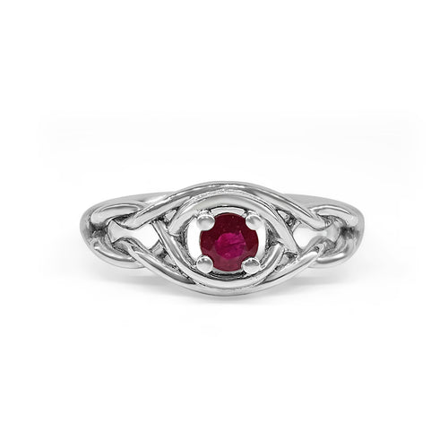 Ruby Knot Ring