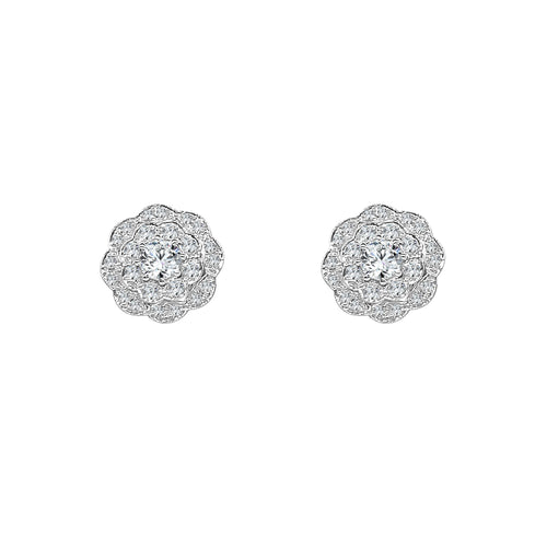 Hearts On Fire Lorelei Double Halo Diamond Stud Earrings