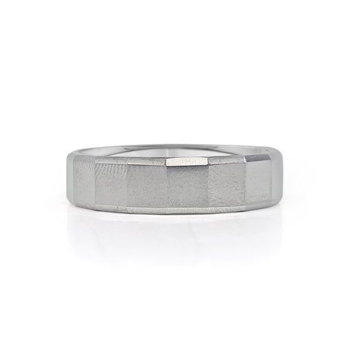 Tungsten Carbide Beveled Fancy Band