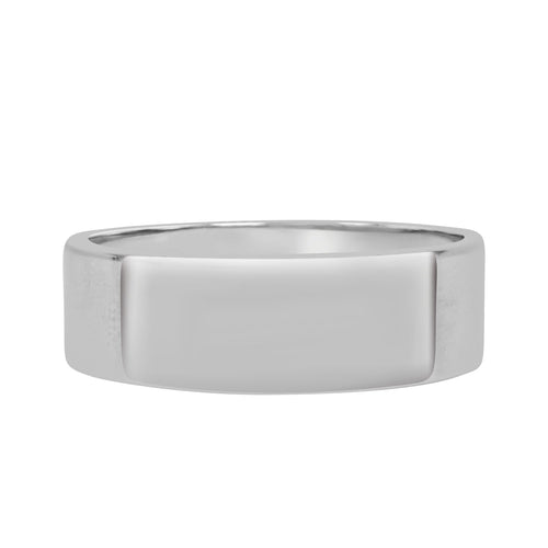 Polished Flat Tungsten Carbide Wedding Band