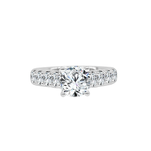 Fana Solitaire Ring With One Carat Diamond Band