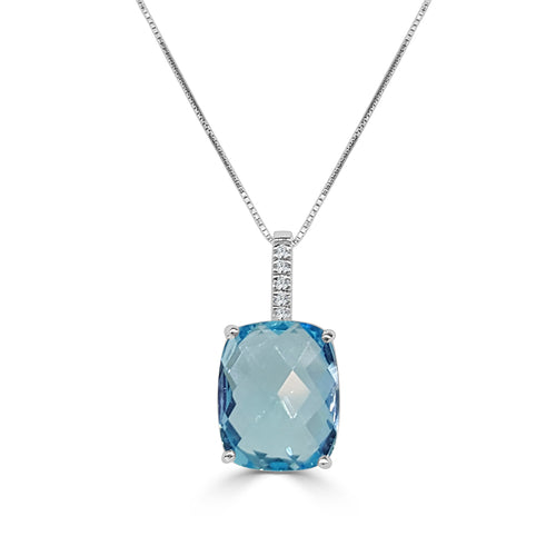 Fancy Seven Carat And Diamond Necklace