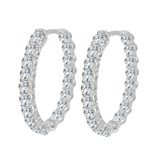 Oval Inside Out 1.14 Carat Hoop Earrings