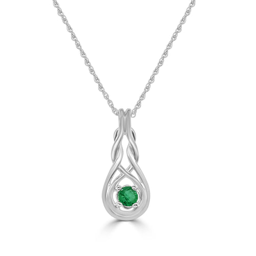 Emerald Knot Necklace