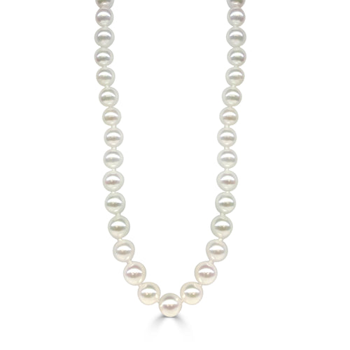Cultured 6.5-7mm Pearl Necklace With 14 Karat White Gold Clasp
