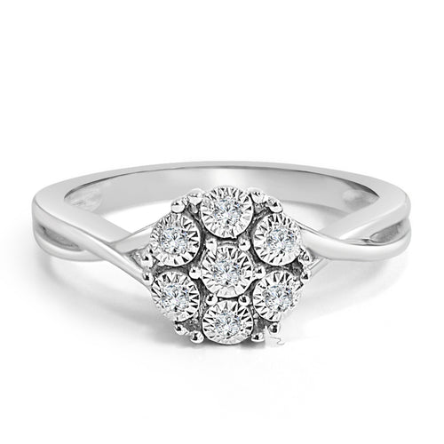 Bouquet Style Diamond Engagement Ring