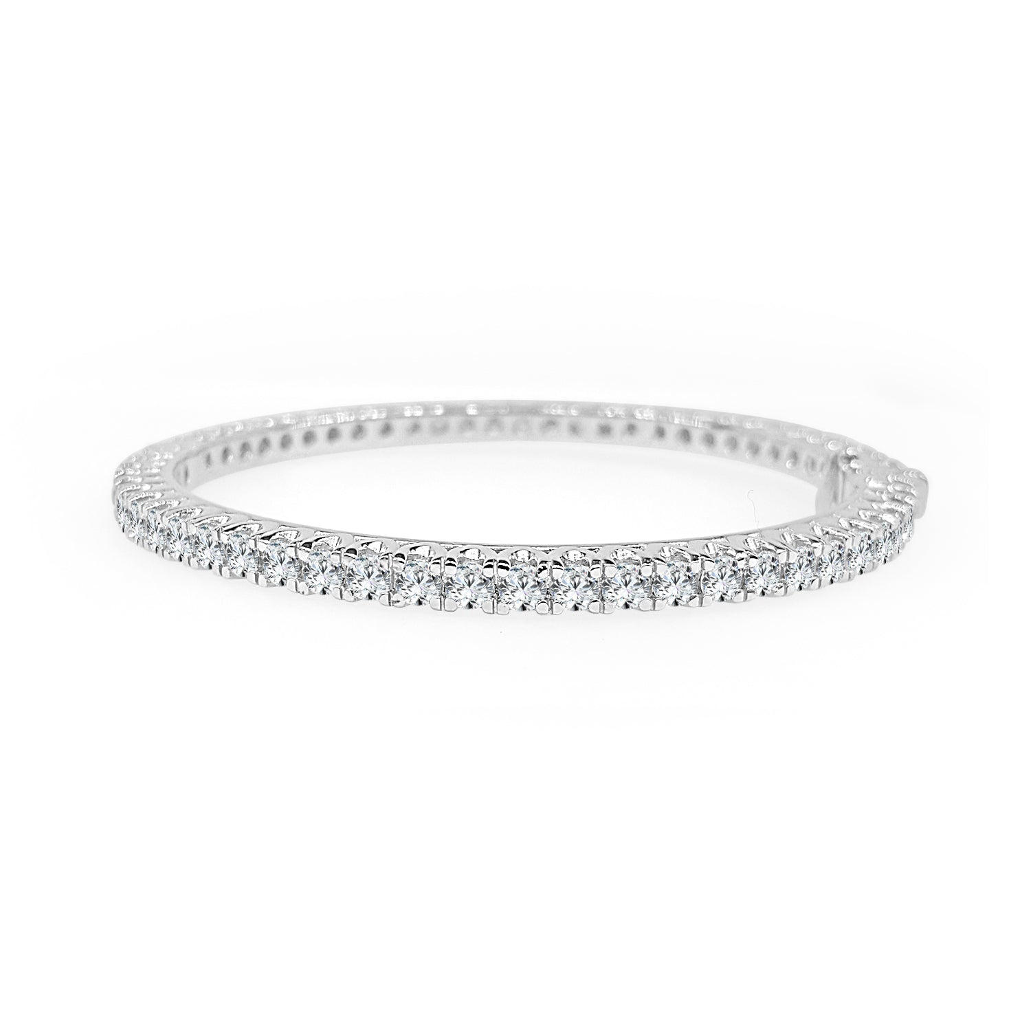 eternity jewelers reuven platinum bracelet in gitter cut diamond band emerald product