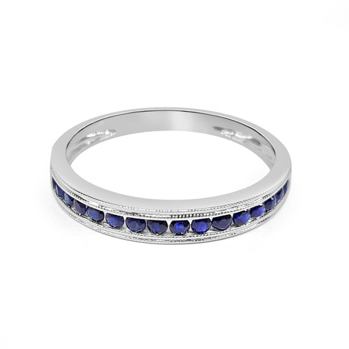 Round Sapphire Channel Band