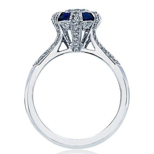 Simply Tacori Diamond And Sapphire Engagement Ring - 2518rd6.5w